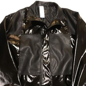 Urban Outfitters Jacket Patchwork Faux Leather M65
